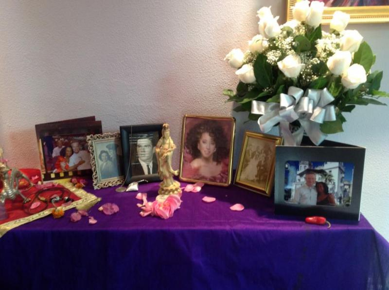 Ayanna Mojica Altar for Beloved who Transitioned